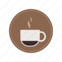 beverage, cafe, coffee time, drink, espresso, hot coffee, mug icon