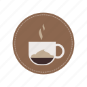 beverage, coffee, cup, drink, espresso, macchiato, milk icon