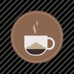 beverage, coffee, cup, drink, espresso, macchiato, milk icon
