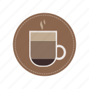 cafe, coffee, espresso, hot, milk, mocha, mug icon