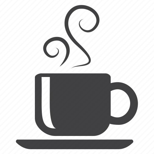 coffee, cup, hot, round icon