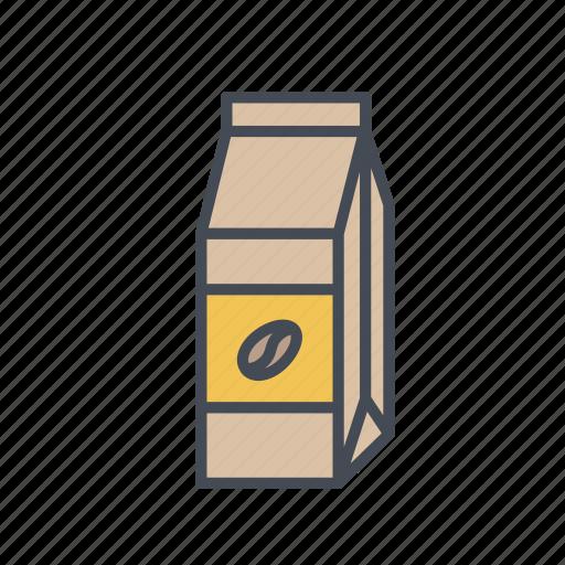 coffee bag, coffee beans, coffee blend, coffee roast, ground bean icon