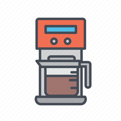 coffee, coffee machine, coffee maker, drip coffee, hot icon