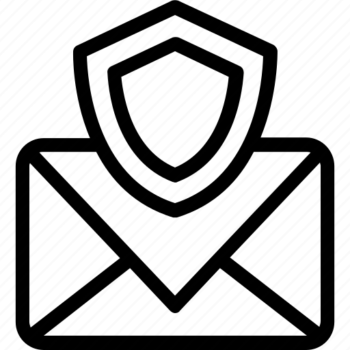 email security, encrypted mail, mail and shield, mail shield, security mail icon