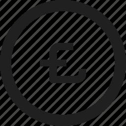 coin, design, line, money icon