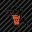 brew, coffee, cold, fizzy, foam icon