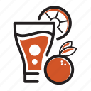 brew, coffee, cold, fresh, fruit icon