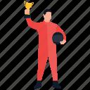 championship, game winner, player, winner, winner trophy icon