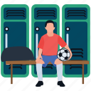 cabinet, closet, sports changing rooms, sports furniture, sports locker, sports locker room icon