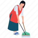 cleaning services, general cleaning, house work, housekeeping, mopping icon