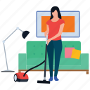 carpet cleaner, cleaning services, domestic cleaning, housekeeping, vacuum cleaning icon