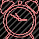 alarmclock, college, education, outline icon