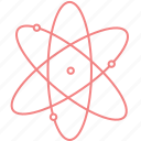 atom, education, outline, physics, science icon
