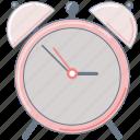 alarm, alarmclock, clock, education, pink icon