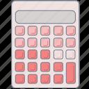 calculator, homework, maths, pink, study icon