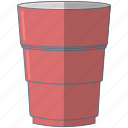 college, cup, pink, solocup icon