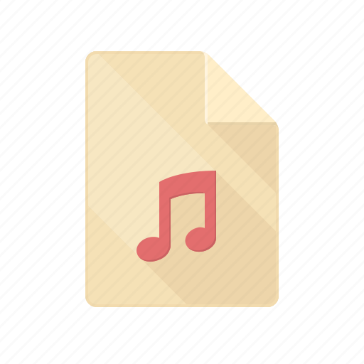 document, listen, music, note, sound, volume icon