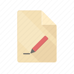 blank, document, edit, new, pen, pencil, sheet icon