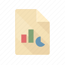 chart, document, graph, point, power, ppt, presentation icon