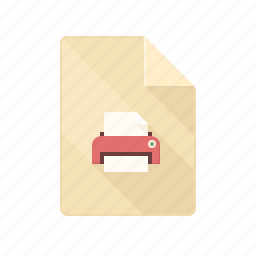 doc, document, ink, paper, print, printer, printing icon