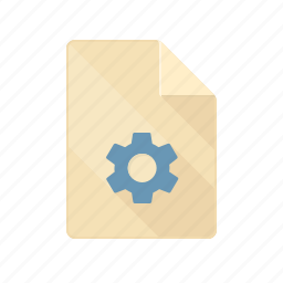 document, gear, repare, settings, setup icon