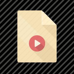 avi, cinema, document, movie, mp4, mpeg, video icon