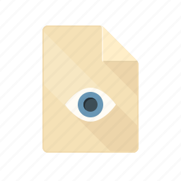 available, document, preview, review, revision, view icon
