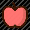 apple, food, fruit, sweet, teacher icon