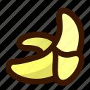 banana, food, fruit, peeled, sweet icon