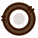 coconut, food, fruit, open icon