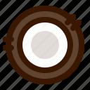 coconut, food, fruit, open icon