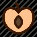 food, fruit, peach, slice icon