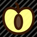 food, fruit, open, plum icon