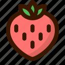 food, fruit, strawberry, sweet icon