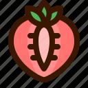 food, fruit, slice, strawberry, sweet icon