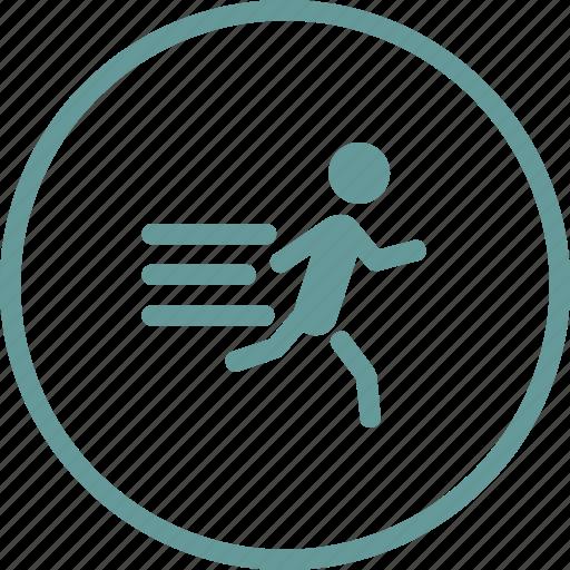 athletics, man, run, runner, sports, sprint icon