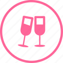 celebration, champagne, drink, glasses, holidays icon