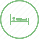 bed, bedroom, relax icon, sleep, sleeping