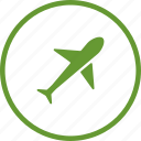 airport, flight, plane, transport, travel icon