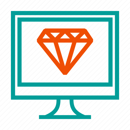 Diamond, jewel, programming, ruby, vision icon - Download on Iconfinder