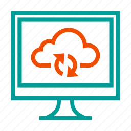 cloud, icloud, repository, sync, synchronization, update icon