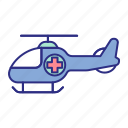 ambulance, emergency, helicopter, hospital