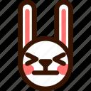 animal, atonished, easter, emoji, emoticon, hare, rabbit icon