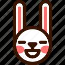 animal, blissful, easter, emoji, emoticon, hare, rabbit icon