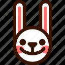 animal, cheerful, easter, emoji, emoticon, hare, rabbit icon