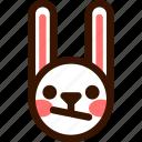 animal, confused, easter, emoji, emoticon, hare, rabbit icon