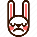 animal, disgusted, easter, emoji, emoticon, hare, rabbit icon