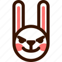 animal, easter, emoji, emoticon, evil, hare, rabbit icon