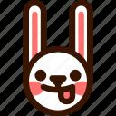 animal, easter, emoji, emoticon, funny, hare, rabbit icon