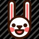 animal, easter, emoji, emoticon, glad, hare, rabbit icon